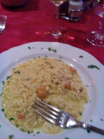 Hotel Puccini: Risotto gamberi e curry