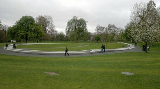 Diana Princess of Wales Memorial Fountain: vista geral