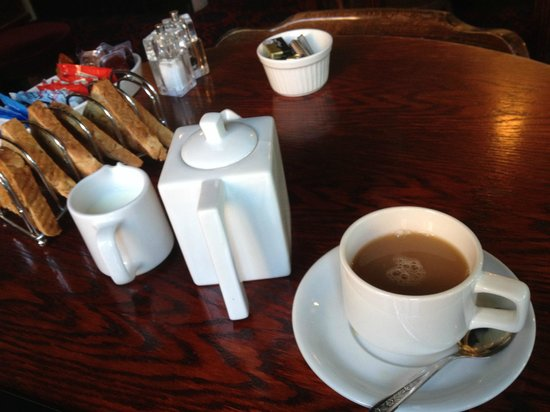 The Spotted Dog: Toast and a pot of tea/coffee
