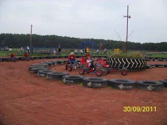 East Links Family Park: Bigger Go-Karts for the bigger age-group :-)