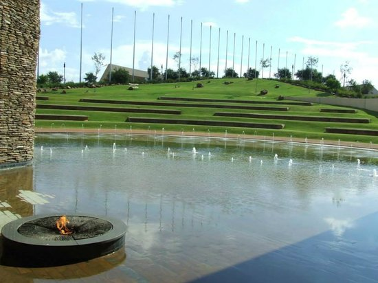 Freedom Park : Amphitheatre and Eternal Flame