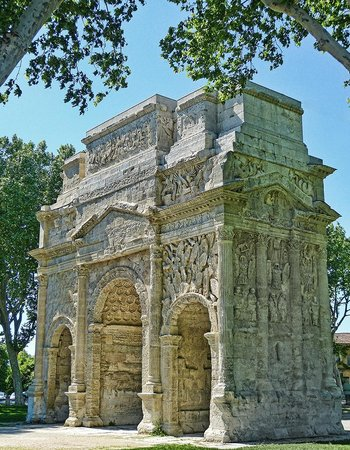 Arc de triomphe : The imperial arch of Orange was built by General Marcus Agrippa during the reign of Augustus
