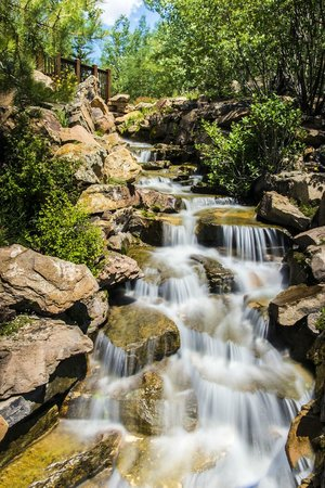 Betty Ford Alpine Gardens: Cascading Waterfalls At The Alpine Gardens