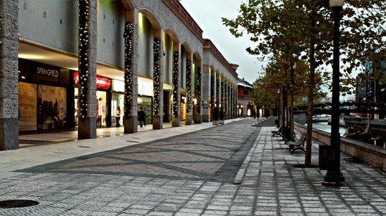 Forum Aveiro: Vista lateral com acessos para Avenida Lourenço Peixinho