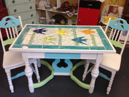 Then & Now Gallery : Great Handmade tiles tables by local artist John Staropoli