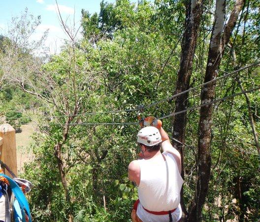Cave Tubing with Vitalino Reyes: Zipline in Belize