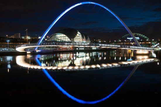 The Quayside: Sage and Millenium Bridge