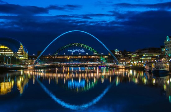 The Quayside: Baltic and bridges