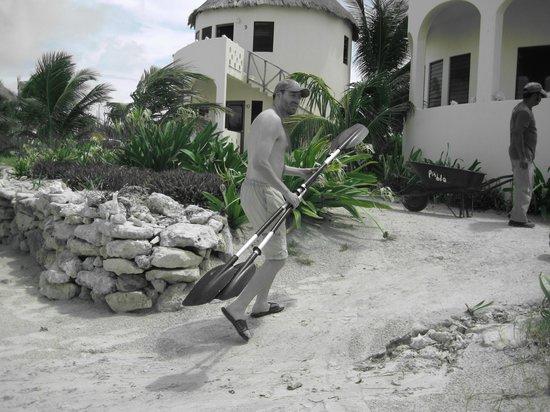 Balamku Inn on the Beach : cabañas