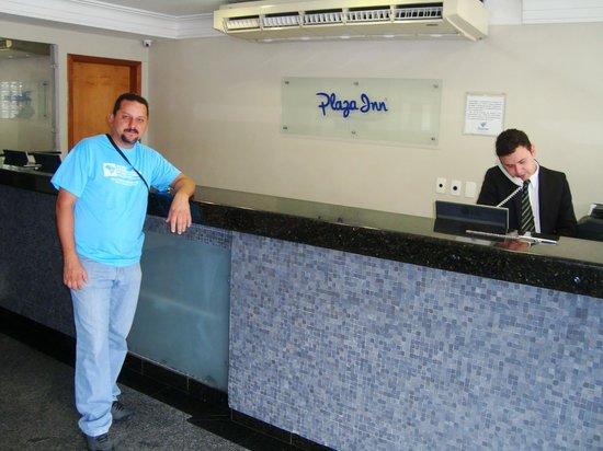 Hotel San Conrado : recepção do hotel
