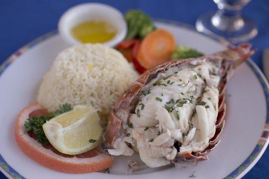 Cape Santa Maria Beach Resort & Villas: Fresh, local, lobster served daily