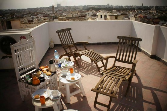 Riad Senso : Rooftop - we asked to have our breakfast there