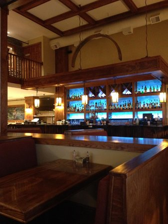 """the bar at Mystic Grill - an exact replica of that seen in the """"Vampire Diaries"""" TV series."""