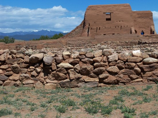 Pecos National Historic Park: Ruins of the chapel at Pecos