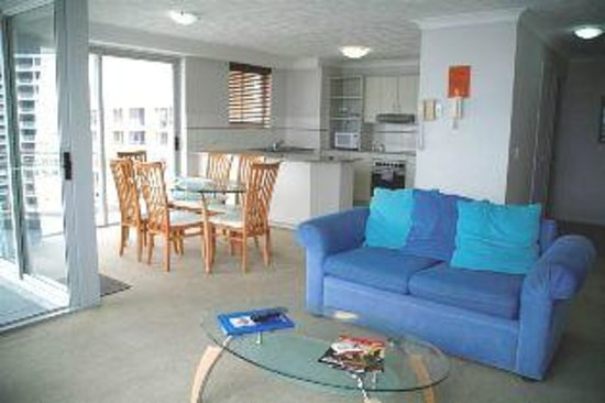 Wharf Boutique Apartments: Two Bedroom Living area