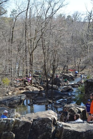 Chewacla State Park: Looking downstream from the waterfall.