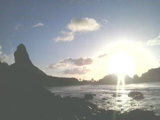 Pôr-do-sol na praia do Cachorro