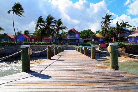Compass Point Beach Resort : View of Compass Point from the Pier