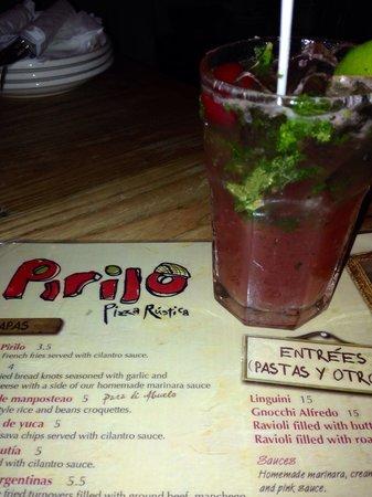 Pirilo Pizza Rustica: Mojito de Acerola... Excelente