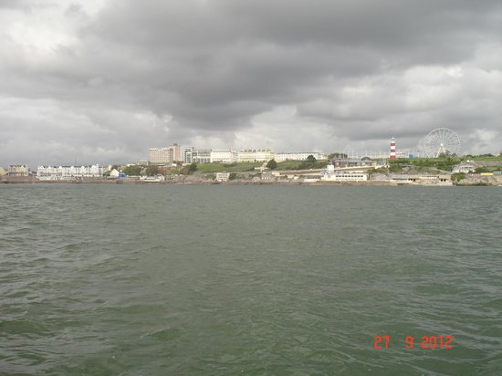 View of Plymouth Hoe from the sea