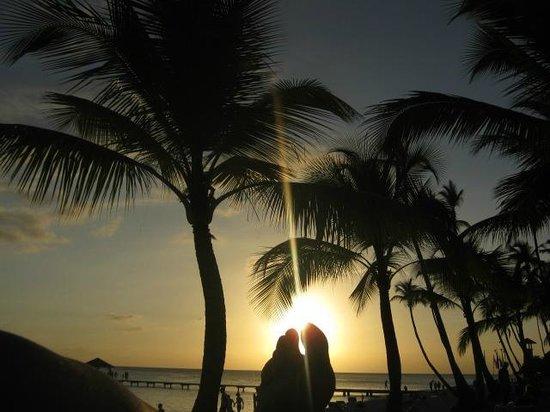 Public beach of Dominicus at Bayahibe : Un atardecer en Domincius