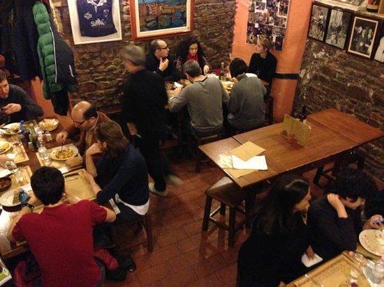 Fiaschetteria Nuvoli: the basement dining room