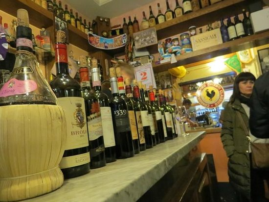 Fiaschetteria Nuvoli: the selection of wines by the glass