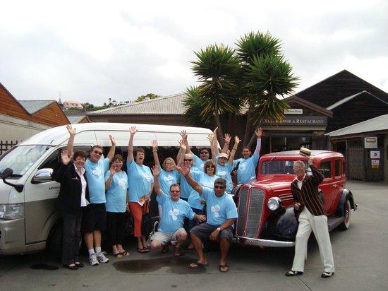 Absolute de Tours: Competition winners enjoying a tour of Napier