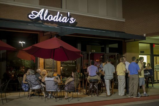 Busy storefront of Alodia's