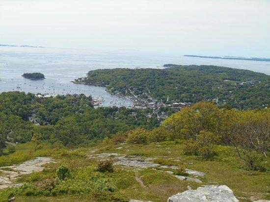 Mount Battie: Camden Harbor from top of Mt. Battie