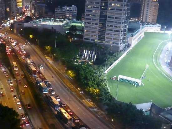 Dorsett Wanchai, Hong Kong: View from level 25 - partial view of the racecourse