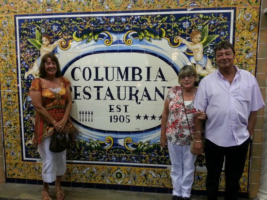 The Columbia Restaurant: With my sister and brother who were visiting from the UK.