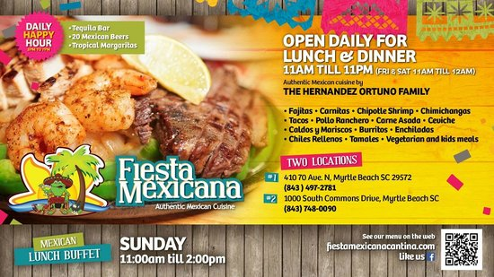 Fiesta Mexicana Myrtle Beach Prices