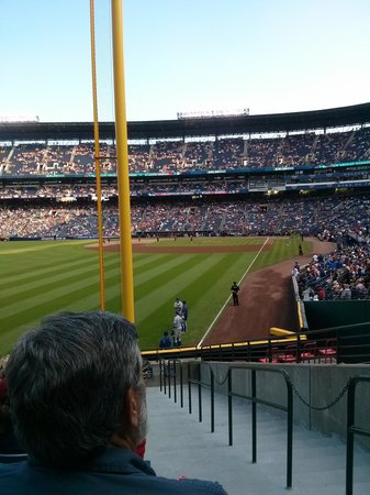 Turner Field: my spot at the Ted:)