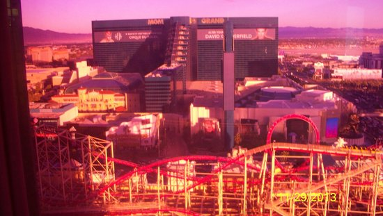 New York - New York Hotel and Casino: View from our room at sunset.