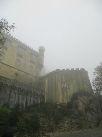 Inside Lisbon Tours : Pena Palace in the fog