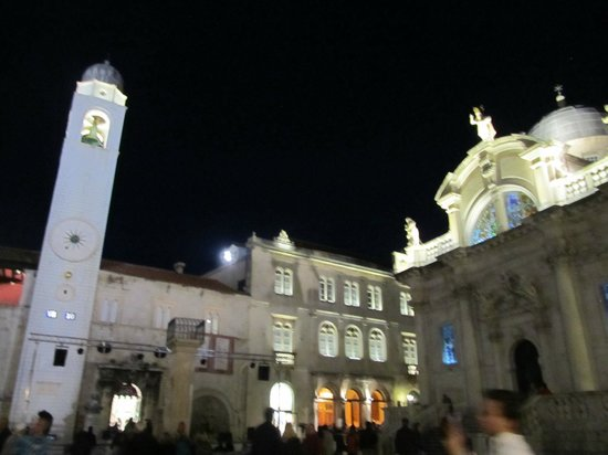 bell tower at night
