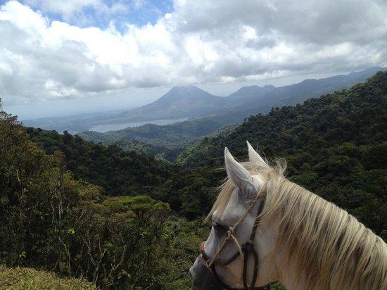 Horse Trek Monteverde - Horseback Riding in Costa Rica : A view of Arenal.