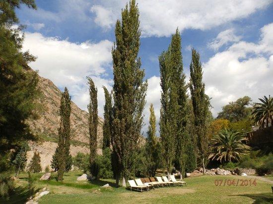 Hotel & Spa Termas Cacheuta: Vista del Parque