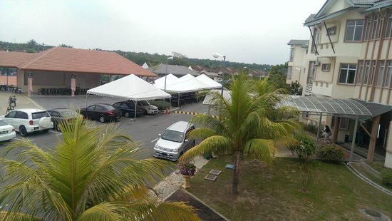 Seri Bayu Resort: view from the balcony. level 1