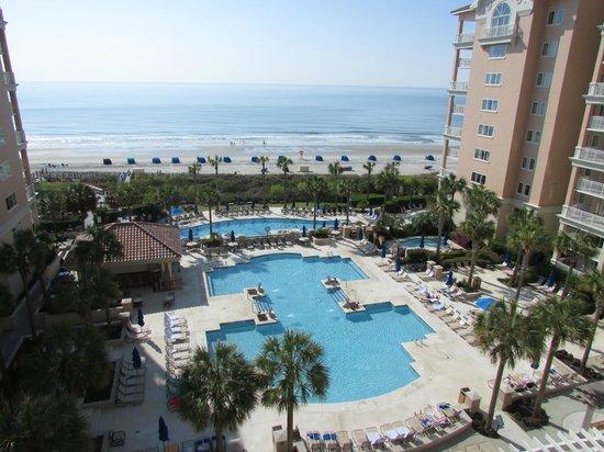 Marriott's OceanWatch Villas at Grande Dunes: View from Room 3064/Starfish Building (6th Floor)