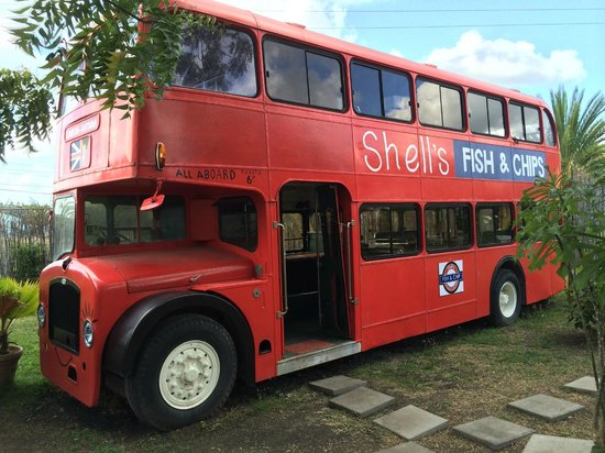 Shell's Double Decker Fish & Chips: Double Decker Bus