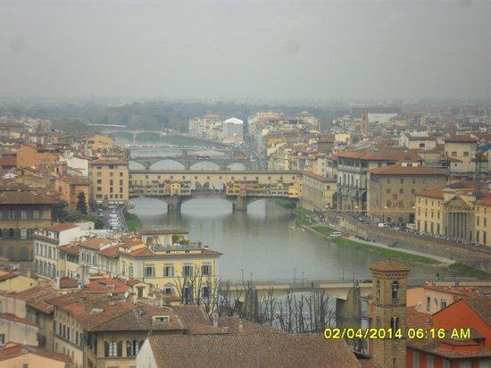 Piazzale Michelangelo: Vista da Ponte Vecchio