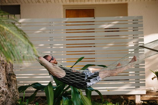 Erakor Island Resort & Spa: Relaxing outside our room
