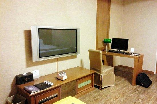Polaris Hotel : Plasma TV and work station