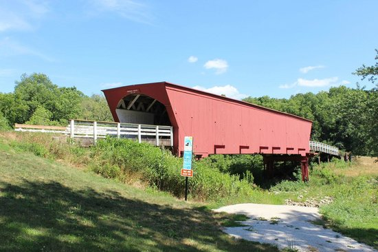 Madison County Chamber of Commerce & Welcome Center: Roseman is the most popular covered bridge.