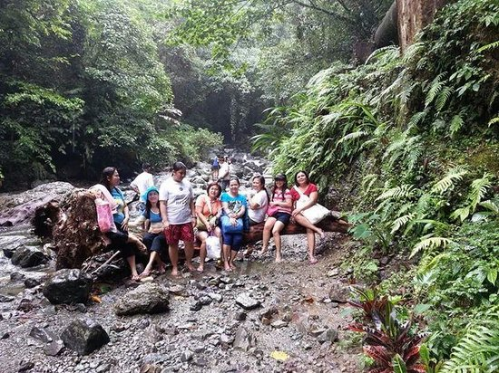 Ditumabo Falls: my group trekking to the falls