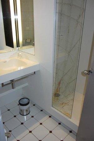"""Mercure Nice Centre Grimaldi : Salle de bain avec le """"kit"""" en plastique..."""