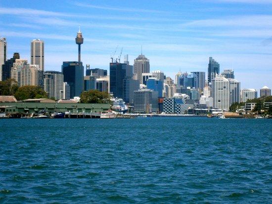 Sydney Harbour: Sydney skyline , from river cat