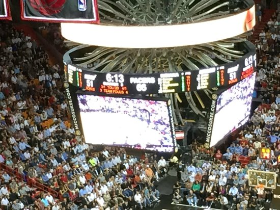 American Airlines Arena: Scoreboard